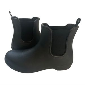 Crocs Freesail Black Chelsea Rain Boot Size 10